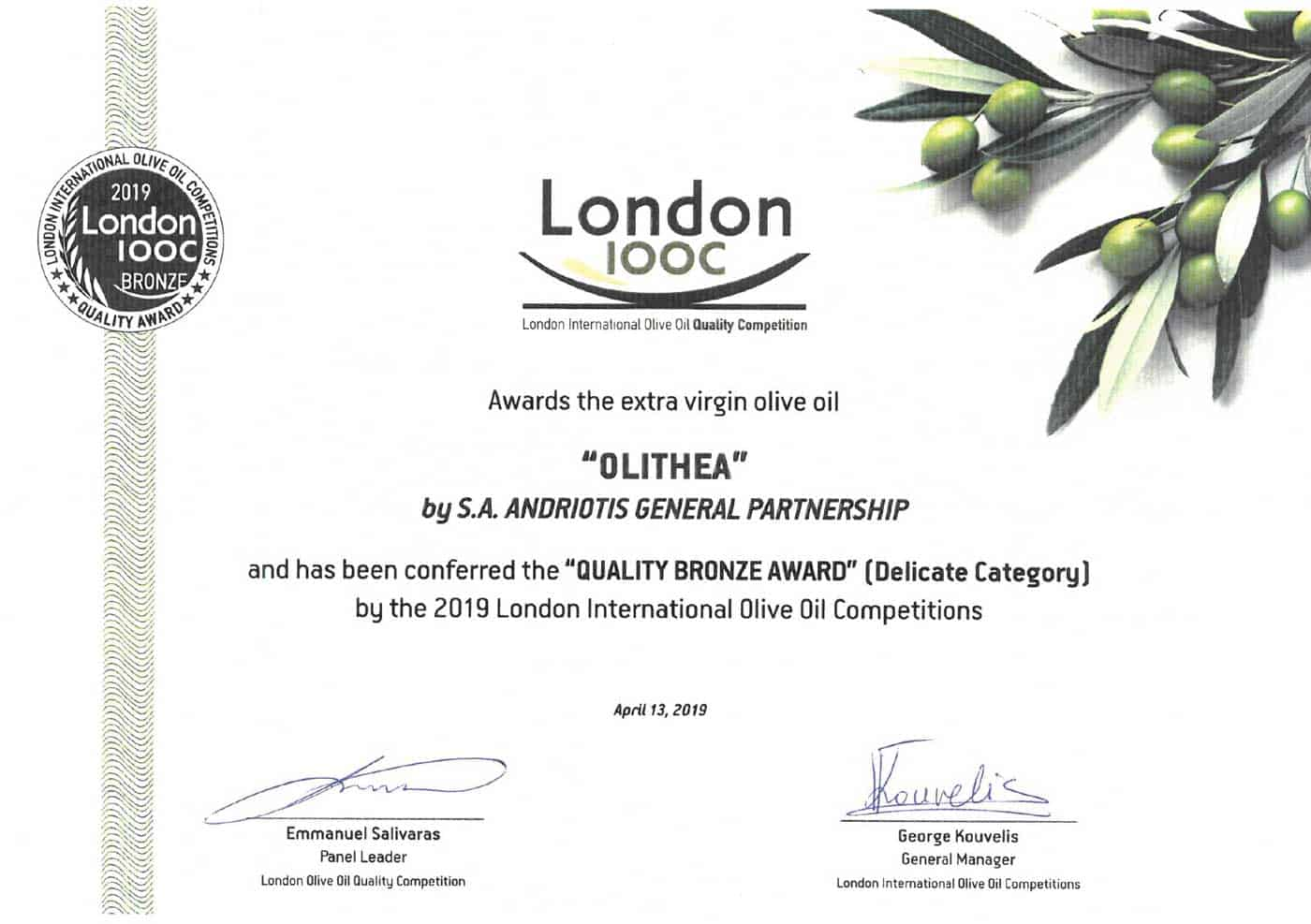 2019-london-100c-international-olive-oil-quality-competition-bronze-award-delicate-category
